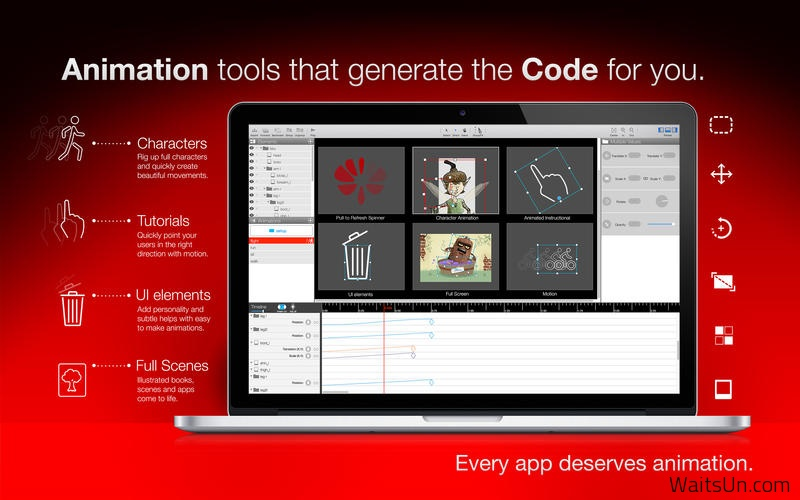 Core Animator for Mac 1.1 破解版 – Mac上优秀的动画开发工具-麦氪派