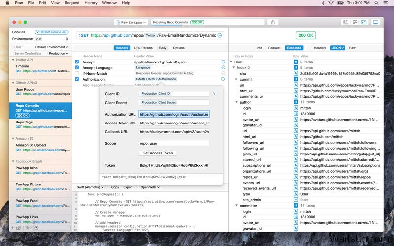 Paw HTTP Client for Mac 2.2.2 破解版 – Mac上实用的HTTP请求测试工具-麦氪派