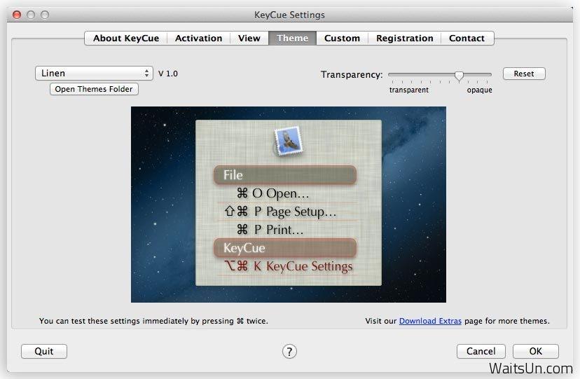 KeyCue for Mac 7.5 b1 破解版 – Mac 上优秀的快捷键提醒查询工具-麦氪派
