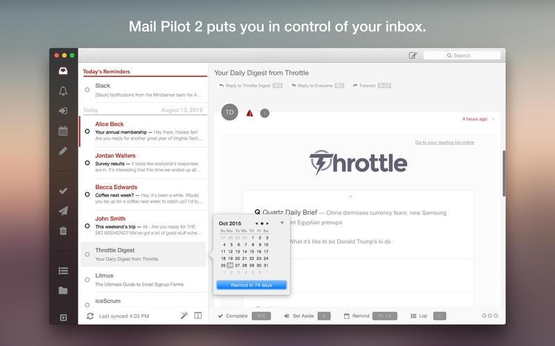 Mail Pilot 2 for Mac 2.1 破解版 – 优秀的邮件客户端