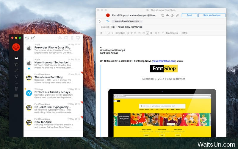 Airmail for Mac 3.02 激活版 – Mac上简洁快速的邮件客户端-麦氪派(WaitsUn.com | 爱情守望者)