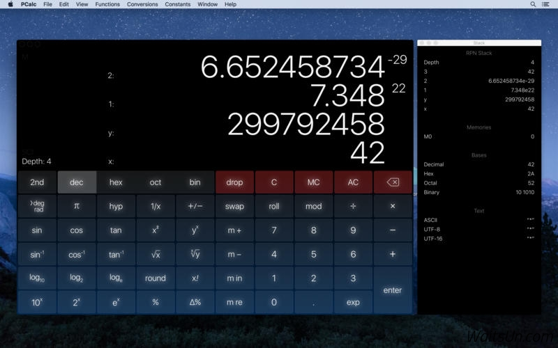 PCalc for Mac 4.3 破解版 – Mac上强大的全功能科学计算器-麦氪派