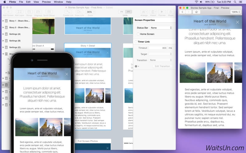 Flinto for Mac 1.6.3 破解版 – 强大的移动应用原型设计工具-麦氪派(WaitsUn.com   爱情守望者)