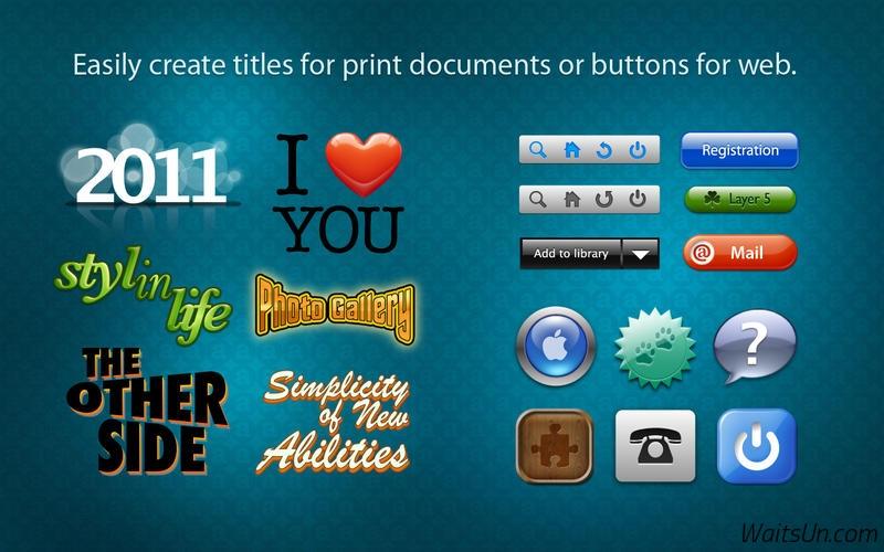 Art Text 2 for Mac 2.5 破解版 – Mac上优秀的艺术文字和图标设计软件-麦氪派(WaitsUn.com | 爱情守望者)