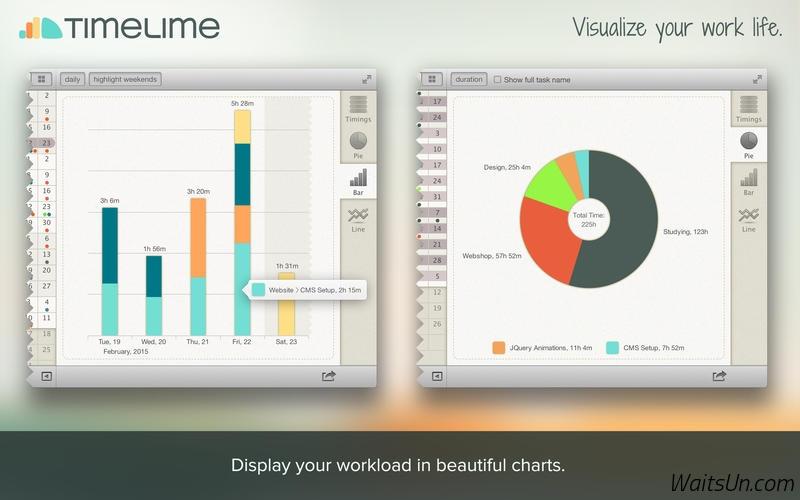 Timelime for Mac 1.4.3 破解版 – Mac上优秀的工作时间跟踪和统计工具-麦氪派(WaitsUn.com | 爱情守望者)