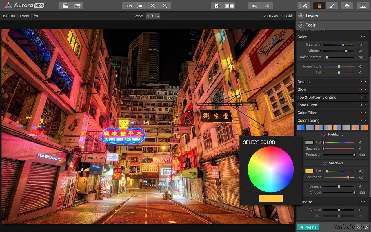 Aurora HDR 2017 for Mac 1.1.0 破解版 - 优秀的图片HDR特效工具