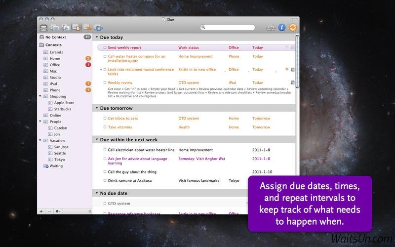 OmniFocus 2 Pro for Mac 2.5.3 注册版 – 最优秀的GTD效率工具