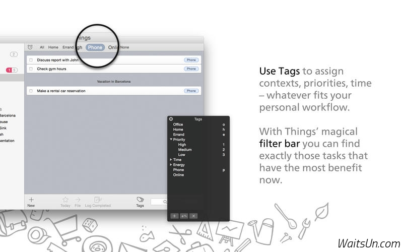 Things for Mac 2.8.12 破解版 – Mac上强大的GTD效率工具