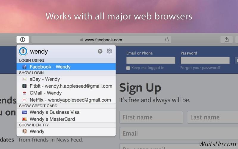 1Password 6 for Mac 6.3.4 破解版 – 最强大的密码管理工具-麦氪派(WaitsUn.com | 爱情守望者)
