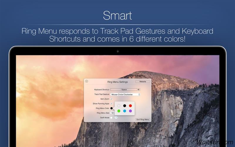 Ring Menu for Mac 1.4.3 激活版 – 转盘式快速启动工具-麦氪派(WaitsUn.com | 爱情守望者)