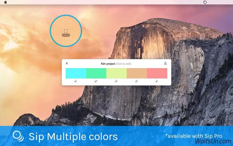 Sip for Mac 4.2.3 破解版 – 最好用的屏幕取色工具-麦氪派