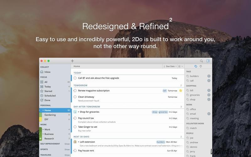 2Do 2 for Mac 2.2.1 破解版 – 优秀的待办事项管理GTD工具