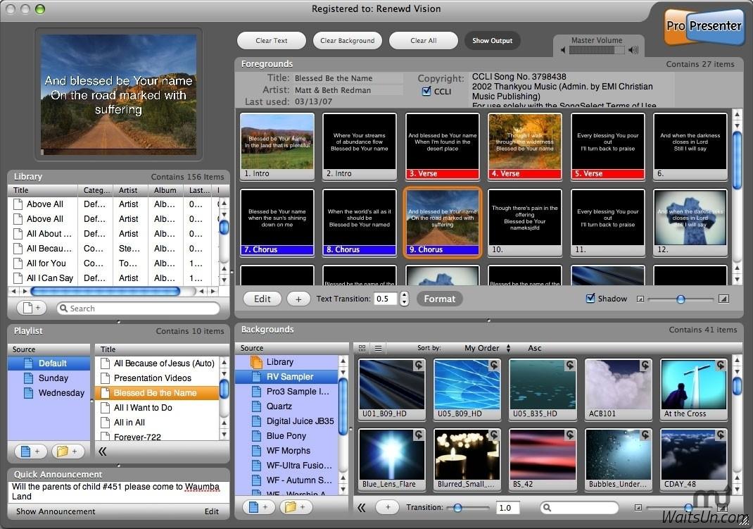 ProPresenter 6 for Mac 6.1 破解版 – 优秀的现场双屏演示工具-麦氪派