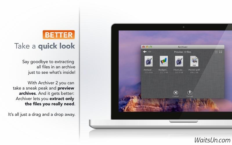 Archiver for Mac 2.4 注册版 – Mac上强大的压缩解压缩工具-麦氪派