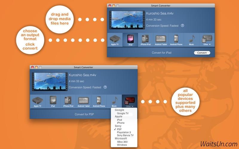 Smart Converter for Mac 2.2.2 破解版 – Mac上快速的视频格式转换软件