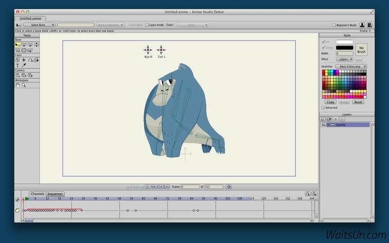 Anime Studio Pro for Mac 11.2.1 序号版 – 强大的动画制作软件-麦氪派(WaitsUn.com)