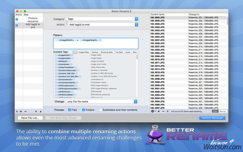 A Better Finder Rename 10.06 for Mac 序号版 – 最好用的文件批量重命名工具-麦氪派(WaitsUn.com | 爱情守望者)