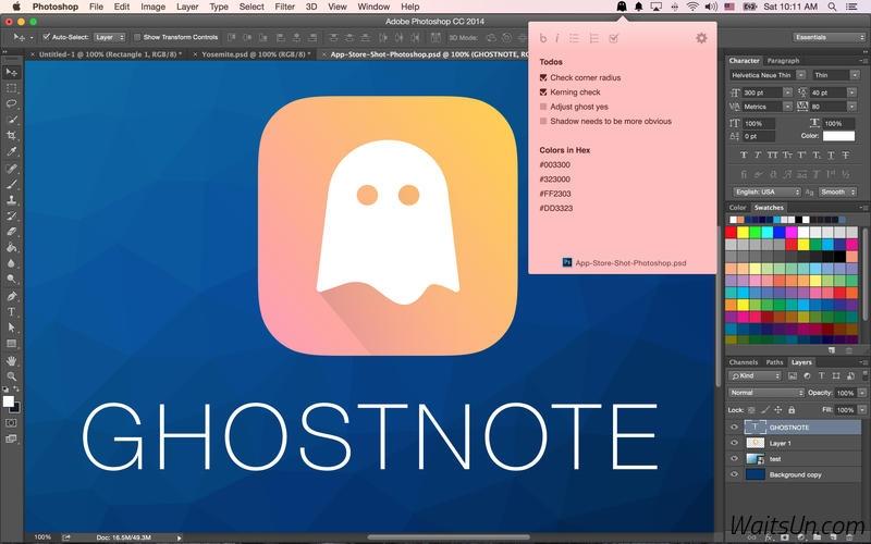 GhostNote for Mac 1.5 破解版 – 文件标注备忘神器-麦氪派