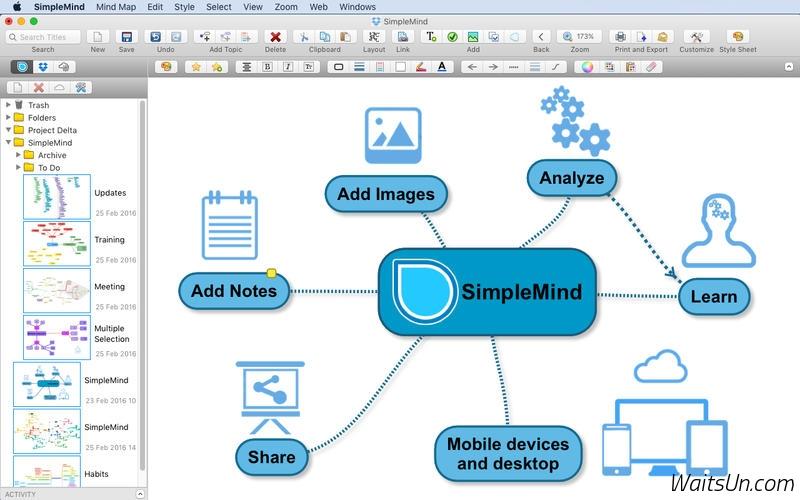SimpleMind for Mac 1.12.1 激活版 – 简单易用的思维导图工具