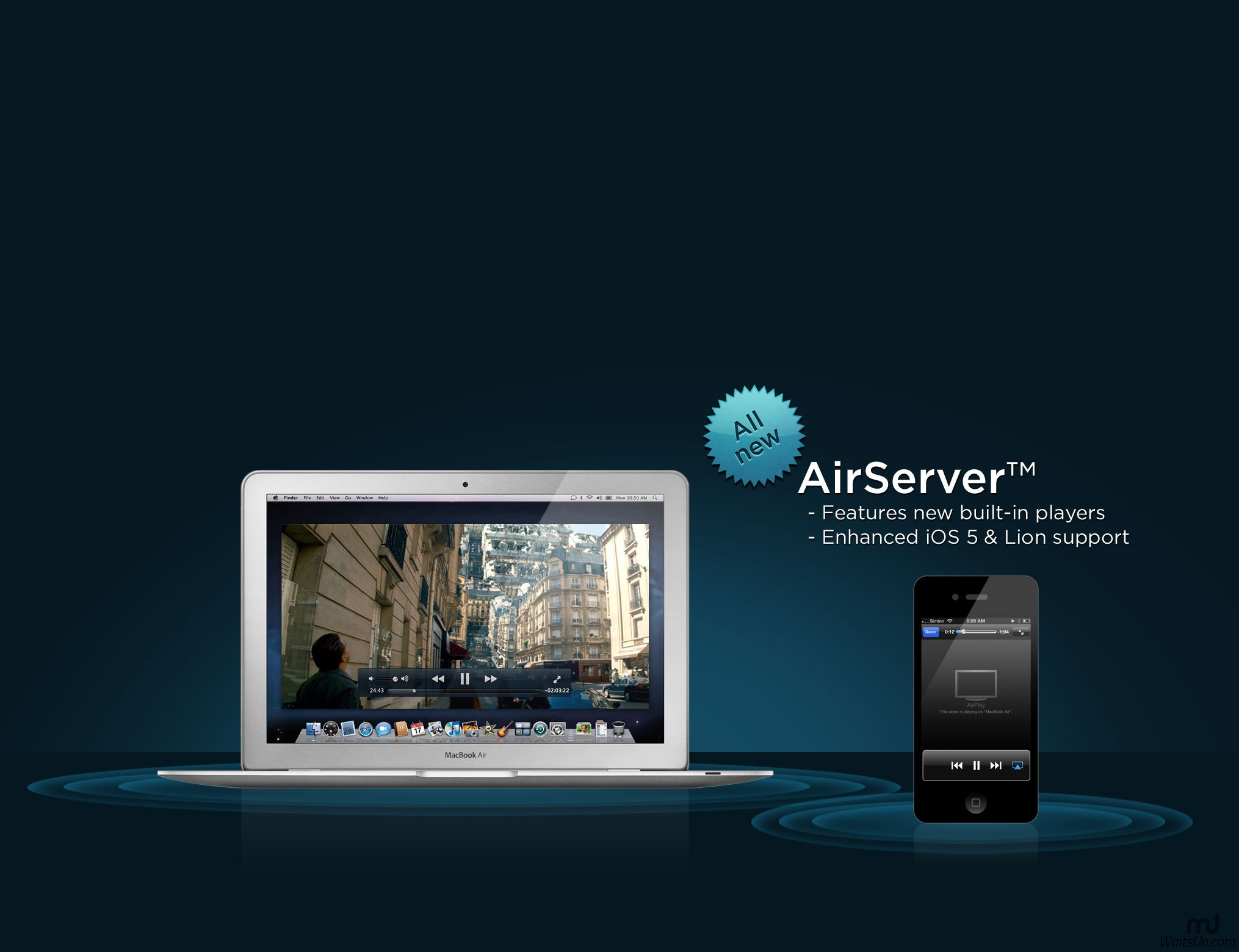 AirServer 7 for Mac 7.0 破解版 - 好用的iPhone屏幕镜像工具