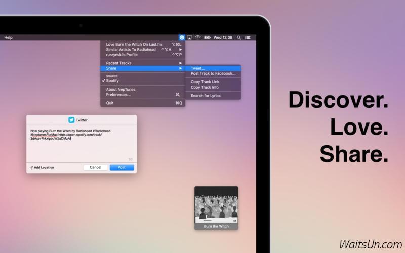 NepTunes for Mac 1.50 激活版 – iTunes + Last.fm工具-麦氪派