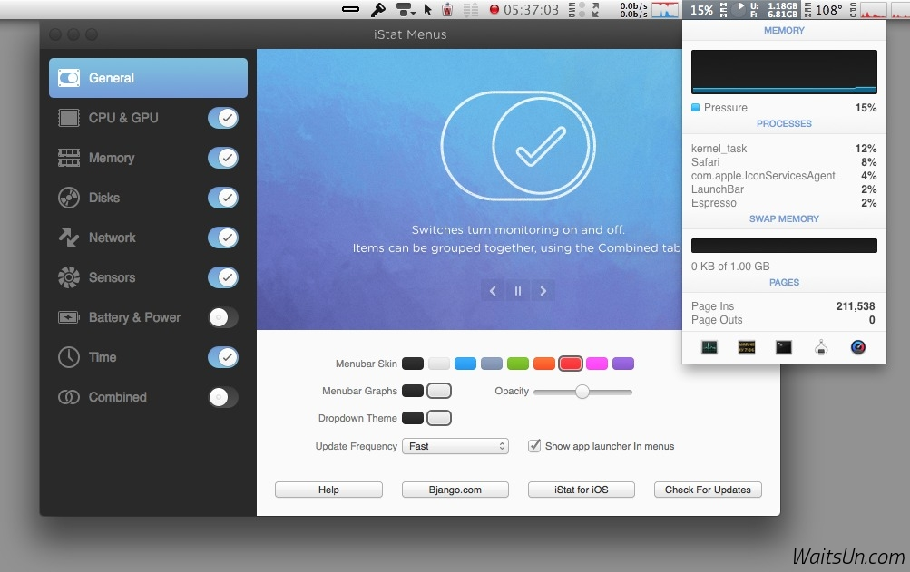 iStat Menus for Mac 5.20 注册版 – Mac上最优秀的系统监控工具-麦氪派