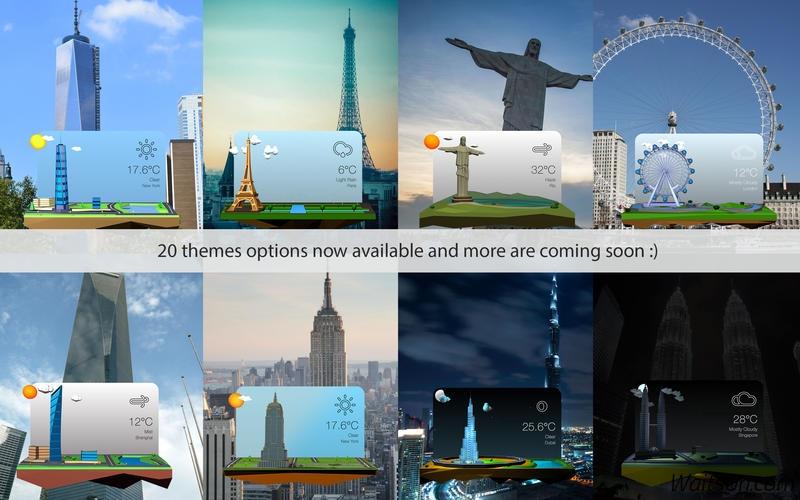 3DWeather for Mac 2.1.1 激活版 - 非常漂亮的3D动画天气工具