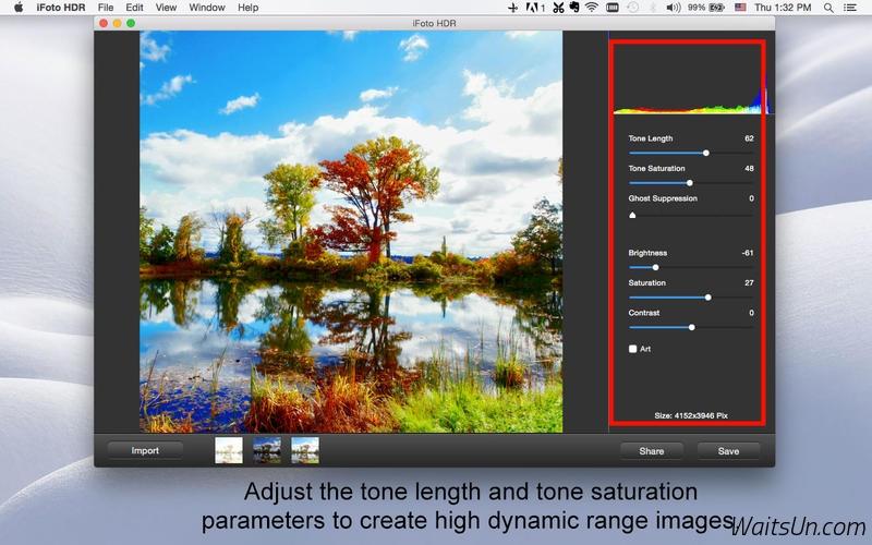 iFoto HDR for Mac 2.3 破解版 – 图像照片HDR工具-麦氪派(WaitsUn.com | 爱情守望者)