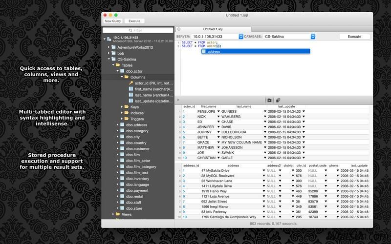 SQLPro for MSSQL for Mac 1.0.77 激活版 – 优秀的MSSQL数据库客户端