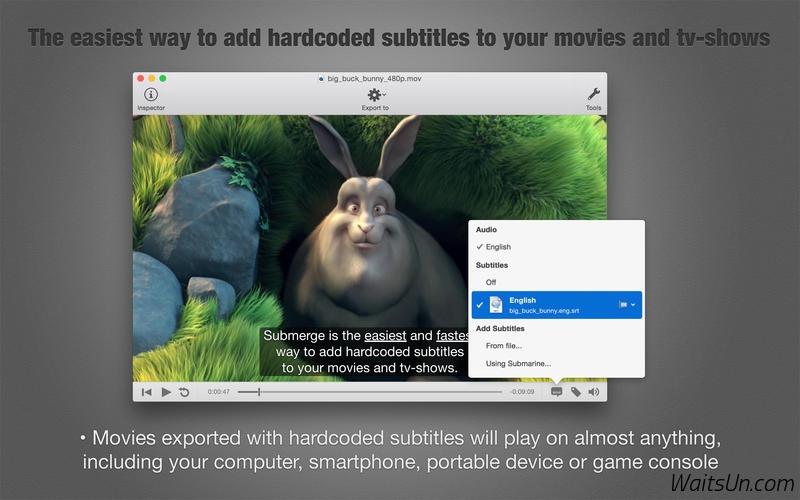 Submerge for Mac 3.3 破解版 – 软字幕内嵌神器-麦氪派
