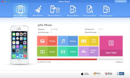 CleanMyPhone for Mac 3.9.6 序号版 – Mac上优秀实用的iPhone/iPad系统清理工具-麦氪派