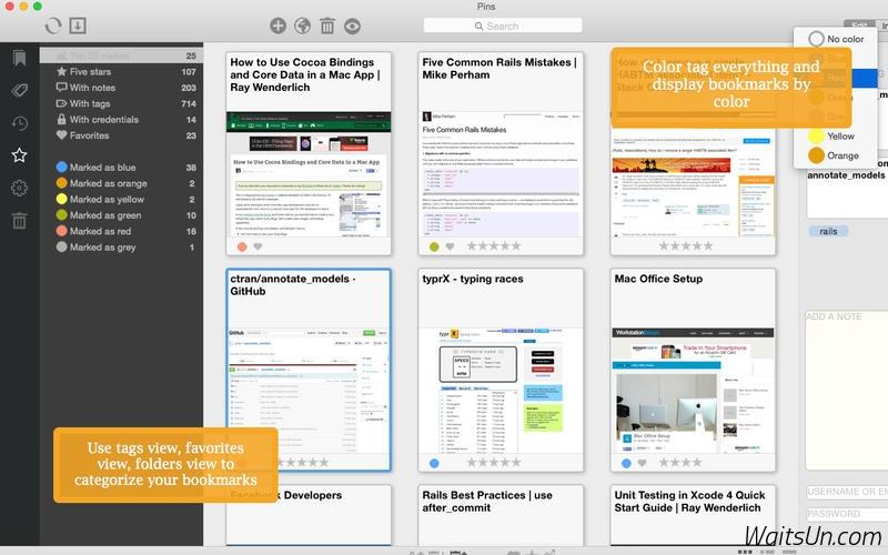 Pins for Mac 2.1.2 破解版 – 优秀的书签管理工具-爱情守望者