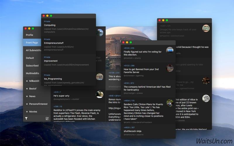 Milkeddit for Mac 1.3 破解版 – 功能丰富的reddit客户端-麦氪派(WaitsUn.com | 爱情守望者)