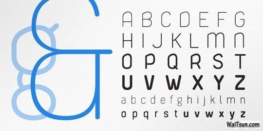 20款清新优雅的英文字体设计素材下载