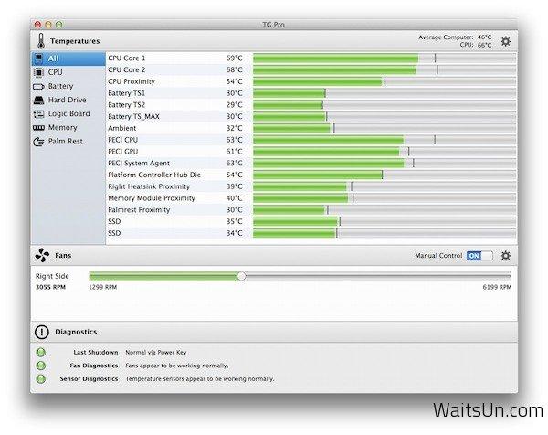 TG Pro for Mac 2.7.3 破解版 – Mac上实用的温度监测软件-麦氪派